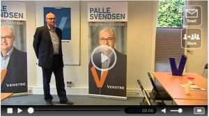 Palle Svendsen i Venstre i Køges valglokale fra TV2 Lorry indslag og V fremgang i okt. måling